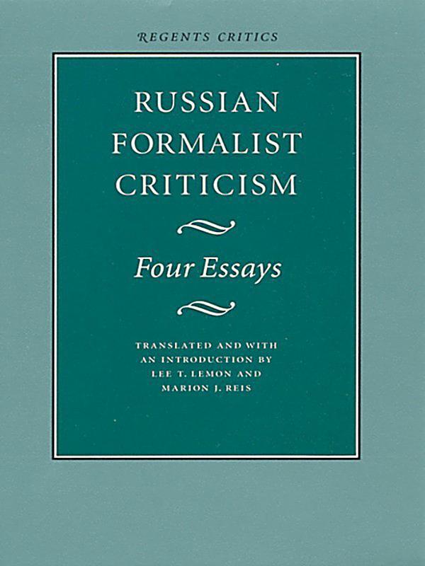 russian formalism four essays