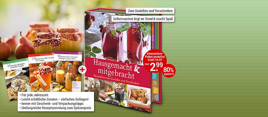 """#Feine Geschenke - hausgemacht und mitgebracht!#  Eingemachtes Obst und Gemüse ist zu jeder Jahreszeit beliebt. Hier gibt's eine Vielfalt neuer und traditioneller Rezeptideen. Nur bei uns erhalten Sie zu den leckeren Rezepten auch tolle Verpackungsideen. So werden aus Marmelade & Co. im Handumdrehen liebevolle Geschenke.   **Selbermachen liegt im Trend und ist gar nicht schwierig!** Denn alles, was man zum Einmachen, Lagern und Haltbarmachen wissen muss, steht in dieser Edition. Überraschen Sie Ihre Familie und Freunde jetzt mit feinen,hausgemachten Köstlichkeiten: * **Von Großmutters Lieblingskonfitüre bis zu eingemachtem Obst und Gemüse und feinwürzigem Pesto** * **Von selbst gebackenem Brot bis zu Pralinen** * **Dazu hausgemachte Öle, Gewürzmischungen, Säfte, Obst- und Kräuterliköre ... **    **Probieren Sie es gleich aus!** {{ button href=""""/weltbild-editionen/kochen-backen/hausgemacht-mitgebracht/bestellen"""" text=""""Jetzt bestellen""""}}"""