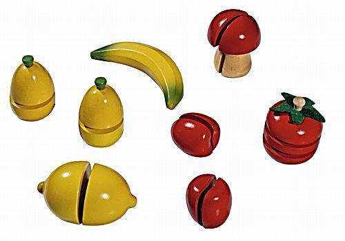 Image of Obst- und Gemüseset, Kaufladenzubehör, 8-teilig