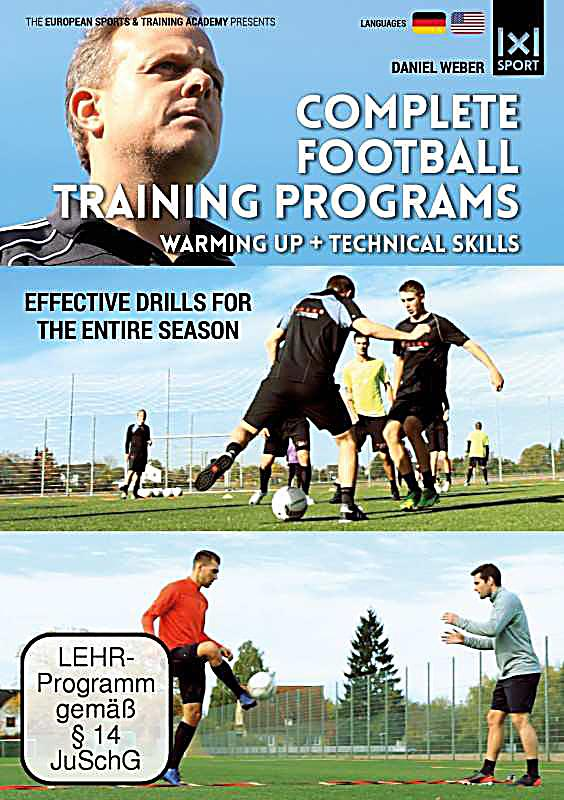 Image of Complete Football Training Programs - Warming up + Technical Skills - Effective Drills for an entire Season