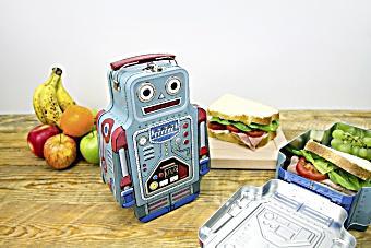 Image of Brotzeitbox aus Blech - Robot Lunch Box