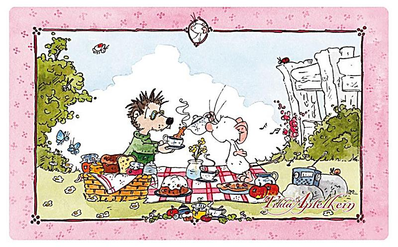 Image of Brettchen Tilda Apfelkern. Motiv Picknick mit Rupert