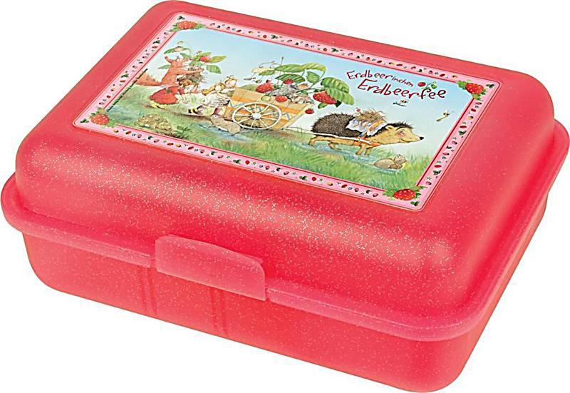 Image of Brotdose Erdbeerinchen mit Karren (rot)