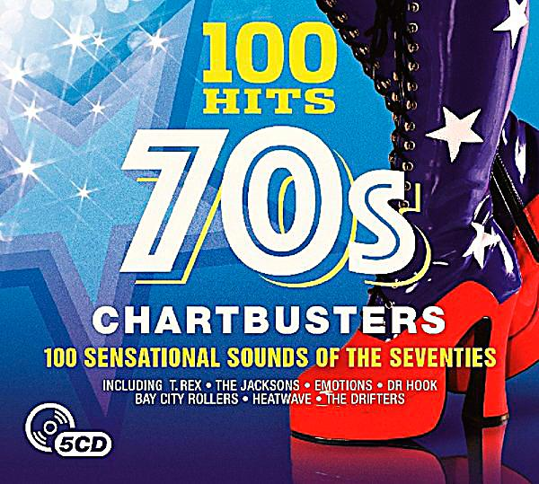 Image of 100 Hits-70'S Chartbusters, 5 CDs
