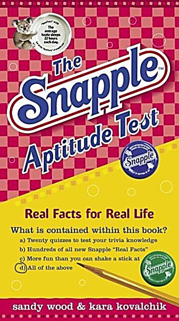 Broadway Books: The Snapple Aptitude Test