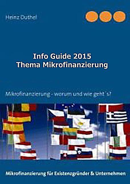 Info Guide Thema Mikrofinanzierung