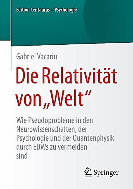 """Edition Centaurus - Psychologie: Die Relativit?t von """"Welt"""