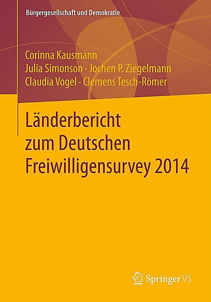 Länderbericht zum Deutschen Freiwilligensurvey 2014