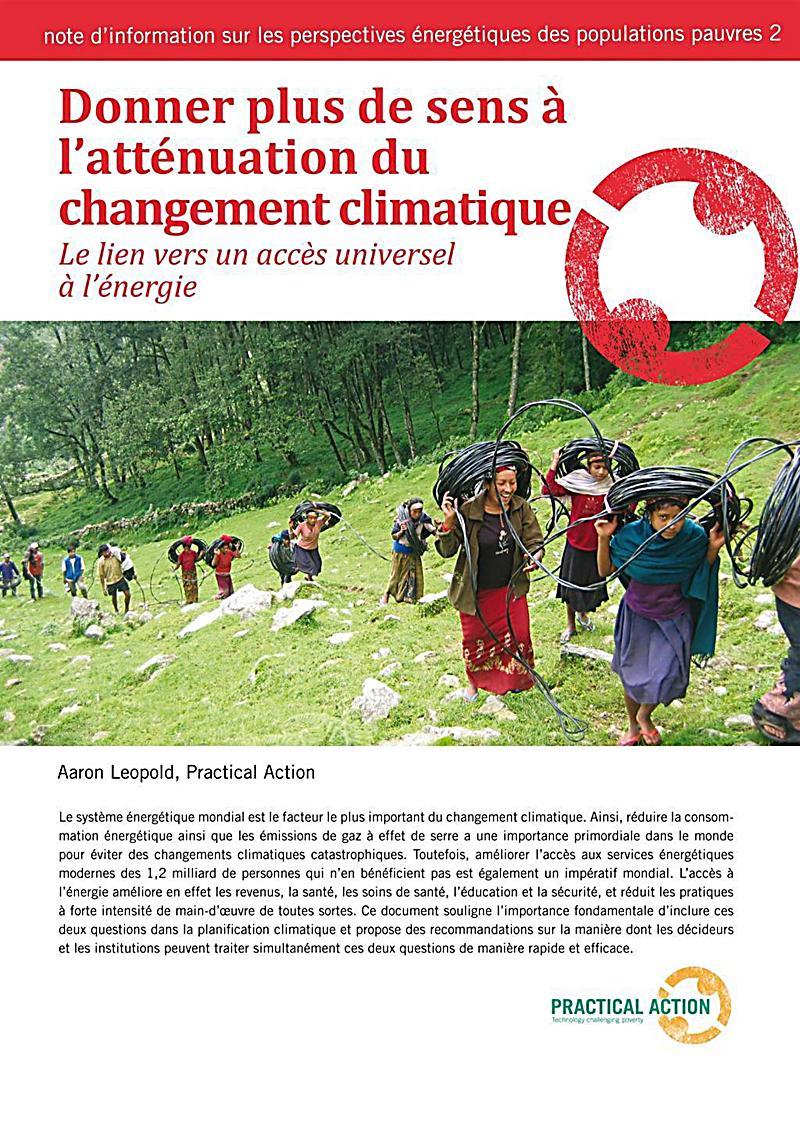 Donner plus de sens à l´atténuation du changement climatique