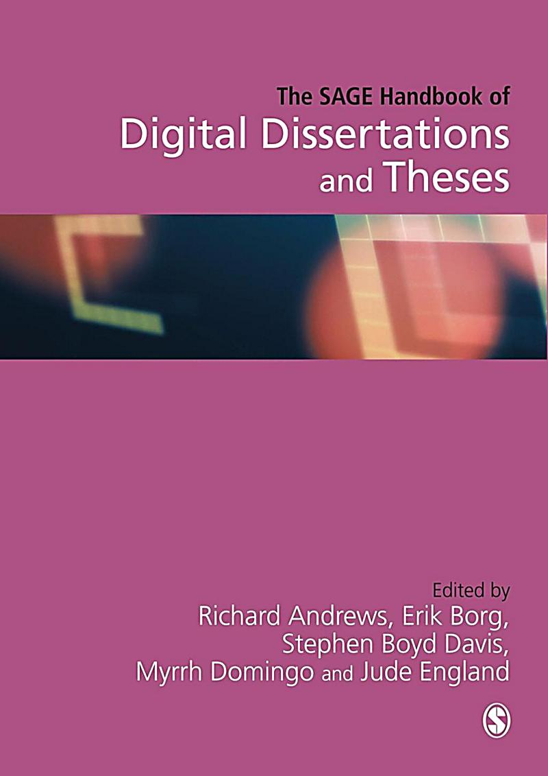 The SAGE Handbook of Digital Dissertations and Theses