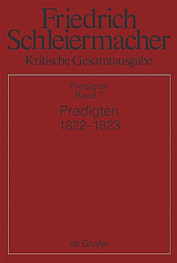 Predigten 1822-1823