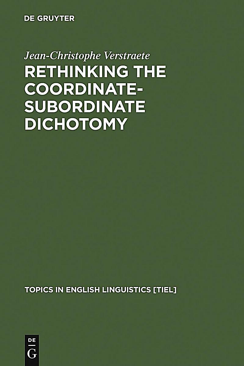 Rethinking the Coordinate-Subordinate Dichotomy