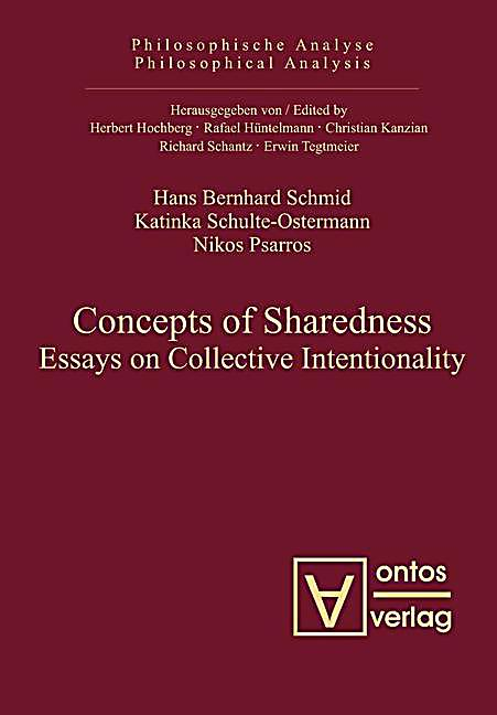 Philosophische Analyse /Philosophical Analysis: 26 Concepts of Sharedness