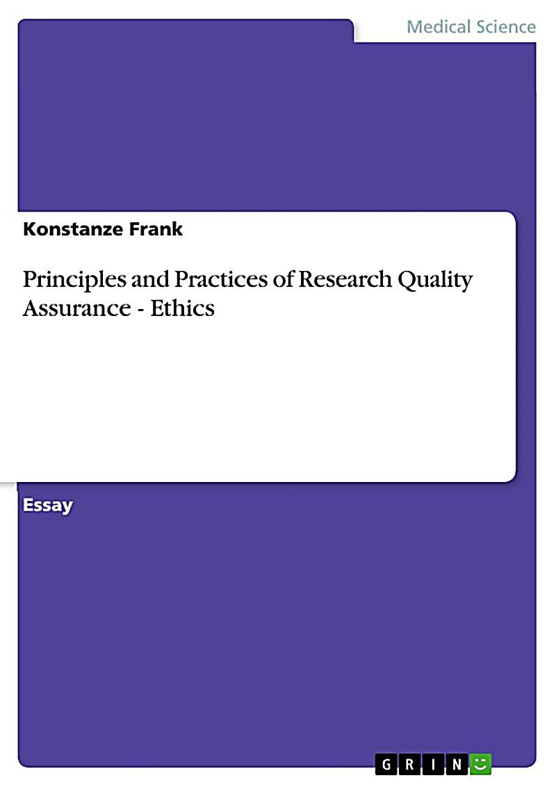 Principles and Practices of Research Quality Assurance - Ethics