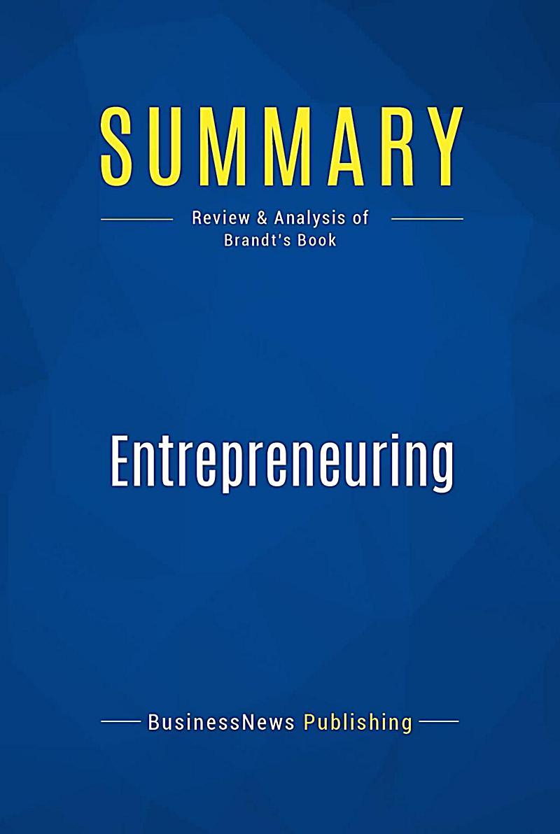 Summary: Entrepreneuring