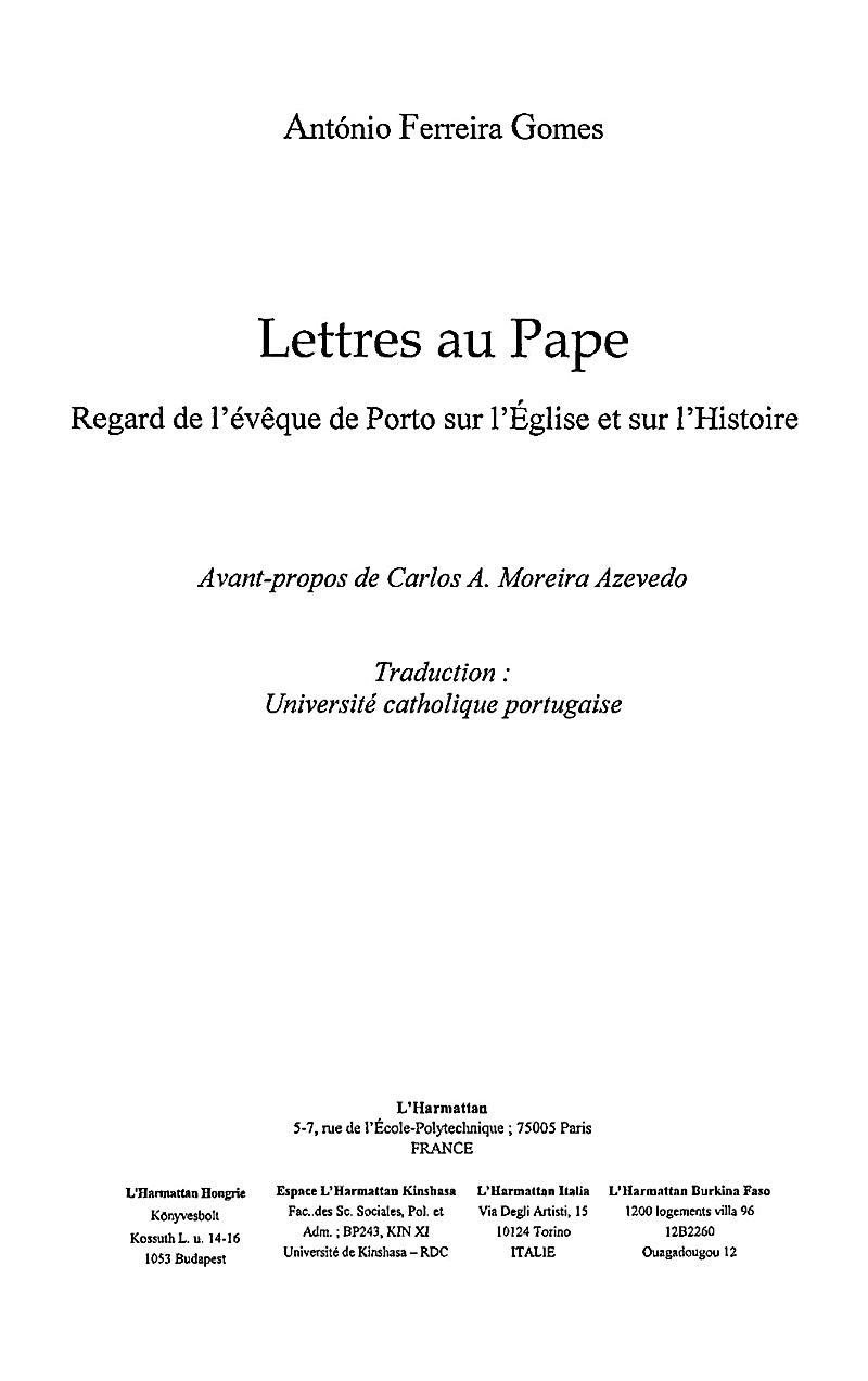 Lettres au pape