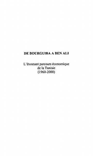De Bourguiba a Ben Ali