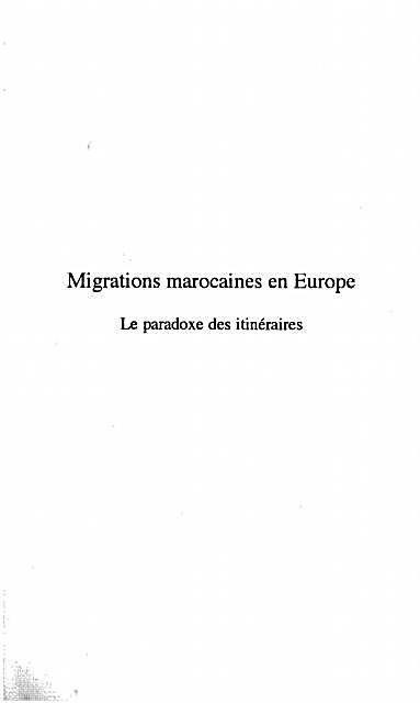 Migrations Marocaines en Europe