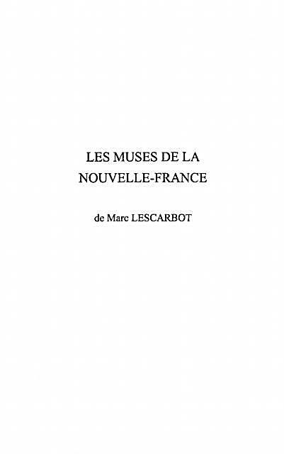 Les muses de la Nouvelle - France