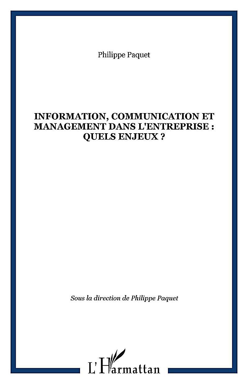 Information, communication et management dans l´entreprise