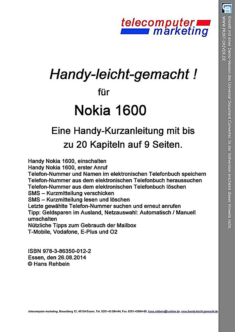 Nokia 1600-leicht-gemacht