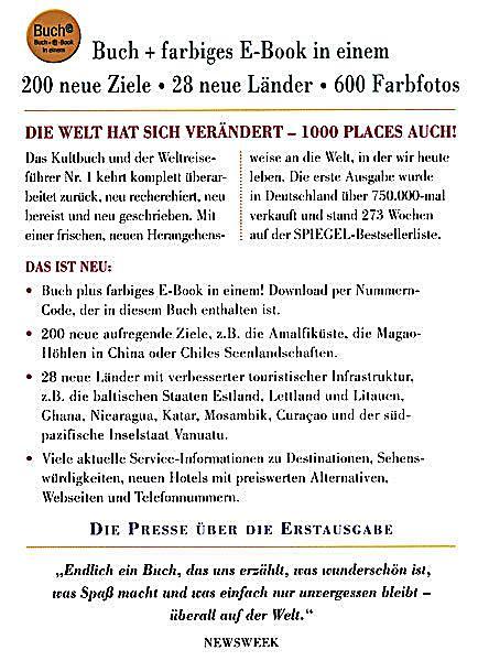 1000 Places to See Before You Die, deutsche Ausgabe, Buch + E-Book ...
