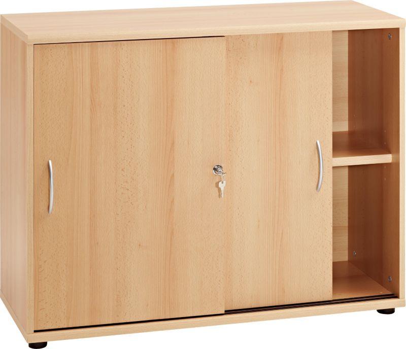 Büromöbel schrank buche  VCM Sideboard Ordner Schrank Akten Büro Möbel Regal mit Schiebetüren ...