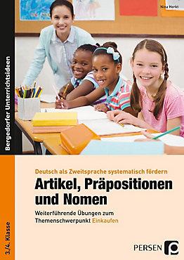 Artikel, Präpositionen und Nomen - Einkaufen 3. 4. Klasse | Weltbild.at