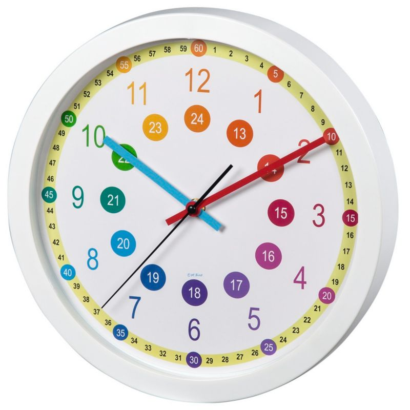 Hama Kinder Wanduhr Easy Learning, Durchmesser 30 Cm, Geräuscharm |  Weltbild.ch