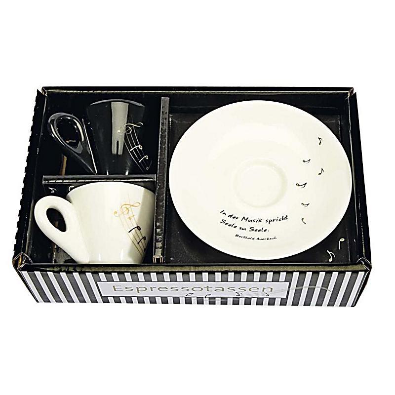 2er set espressotassen in der musik spricht seele zu seele. Black Bedroom Furniture Sets. Home Design Ideas