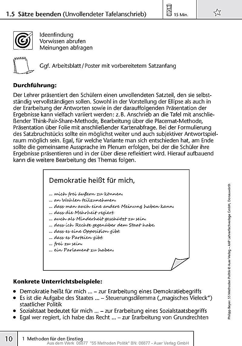 55 Methoden Politik Buch von Philipp Beyer portofrei - Weltbild.de