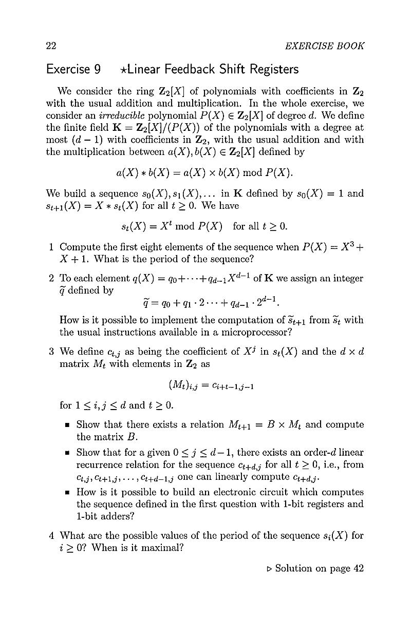 cryptography exercises
