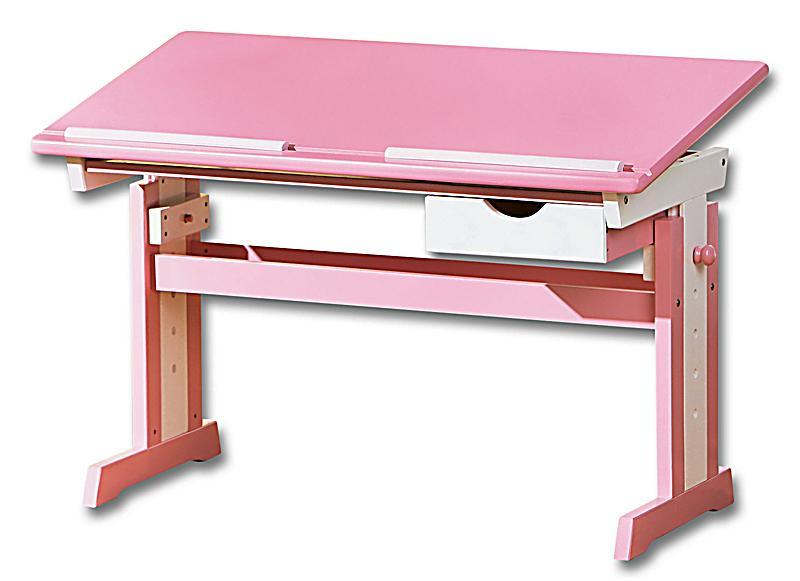 abc schreibtisch cecilia farbe rosa wei bestellen. Black Bedroom Furniture Sets. Home Design Ideas