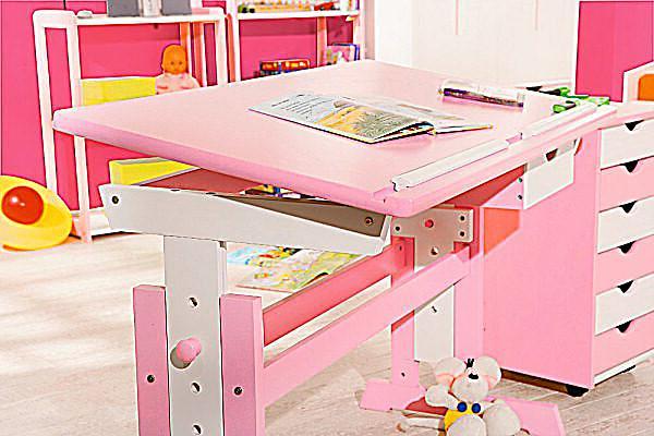 abc schreibtisch cecilia farbe rosa weiss bestellen. Black Bedroom Furniture Sets. Home Design Ideas