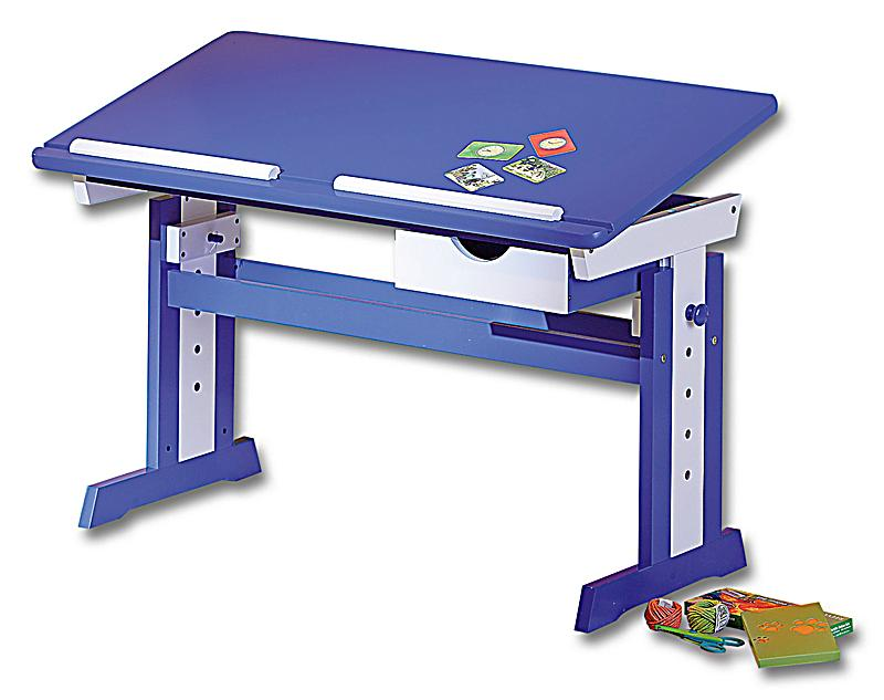 Abc schreibtisch paco farbe blau wei bestellen for Schreibtisch bestellen