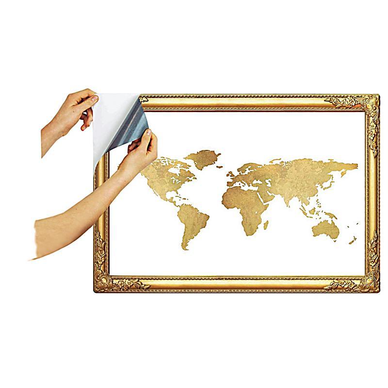 Abziehbare notizfolie weltkarte bestellen for Weltkarte deko