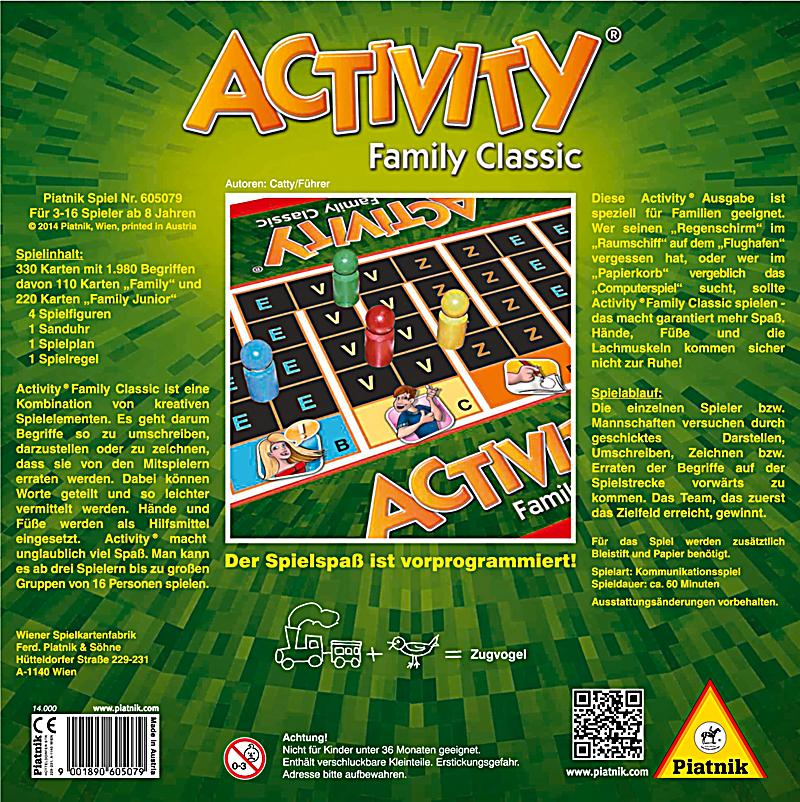 Activity Family Classic Spielanleitung