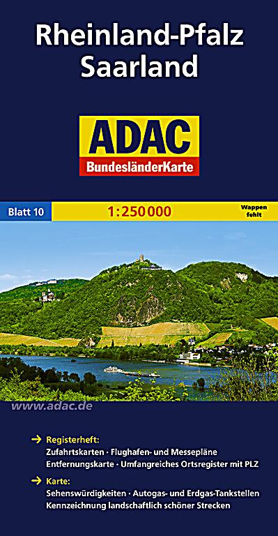adac karte rheinland pfalz saarland buch portofrei. Black Bedroom Furniture Sets. Home Design Ideas