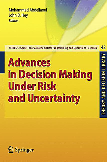 theories of risk and uncertainty Apply the old tools, and you risk formulating strategies that neither defend your company against threats nor leverage the opportunities uncertainty can provide instead, use analytic tools based on the level of uncertainty facing your company: are you facing only two or three alternative futures then use tools such as decision analysis a.