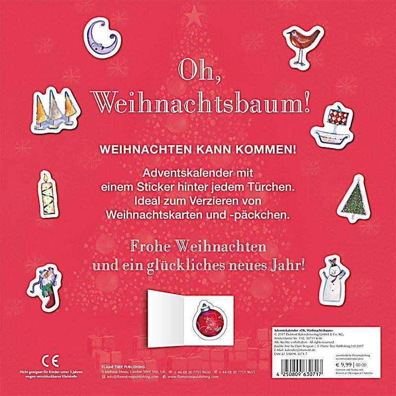 adventskalender oh weihnachtsbaum kalender bei. Black Bedroom Furniture Sets. Home Design Ideas