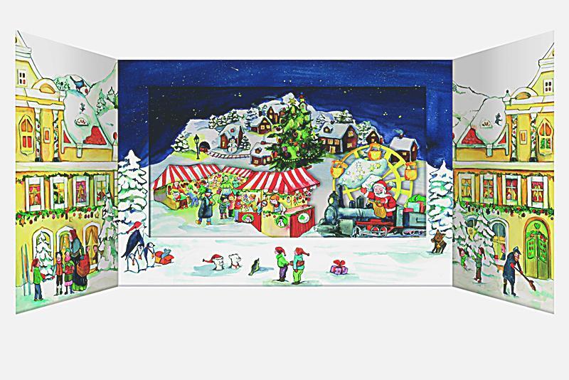 adventskalender weihnachten in der stadt bestellen. Black Bedroom Furniture Sets. Home Design Ideas