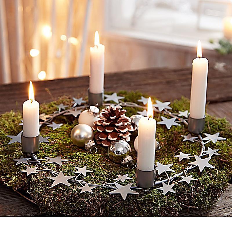 Adventskranz silver stars jetzt bei bestellen for Adventskranz bestellen
