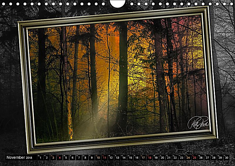 alles im rahmen sonne im wald wandkalender 2018 din a4. Black Bedroom Furniture Sets. Home Design Ideas