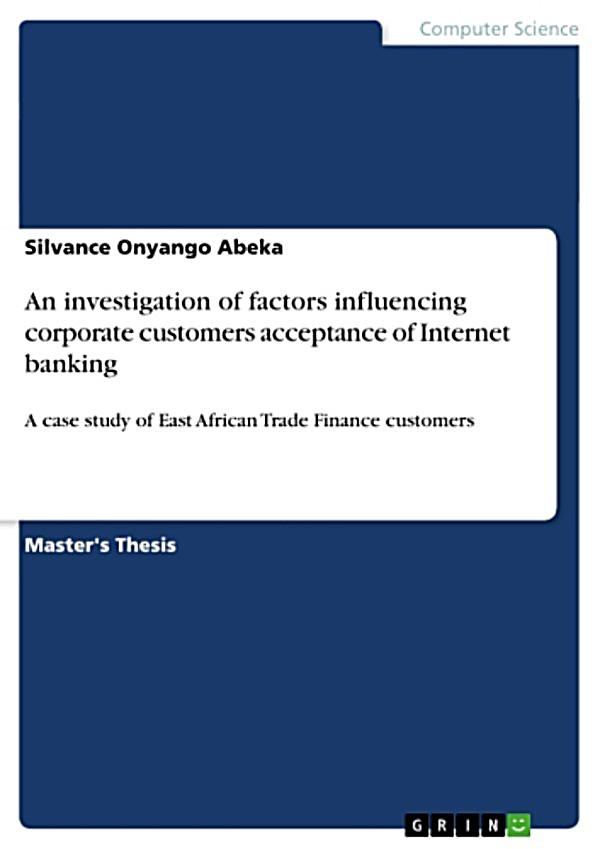 acceptance of e banking among customers Factors affecting adoption of electronic banking:  this study integrates technology acceptance model  electronic banking among the banking customers.