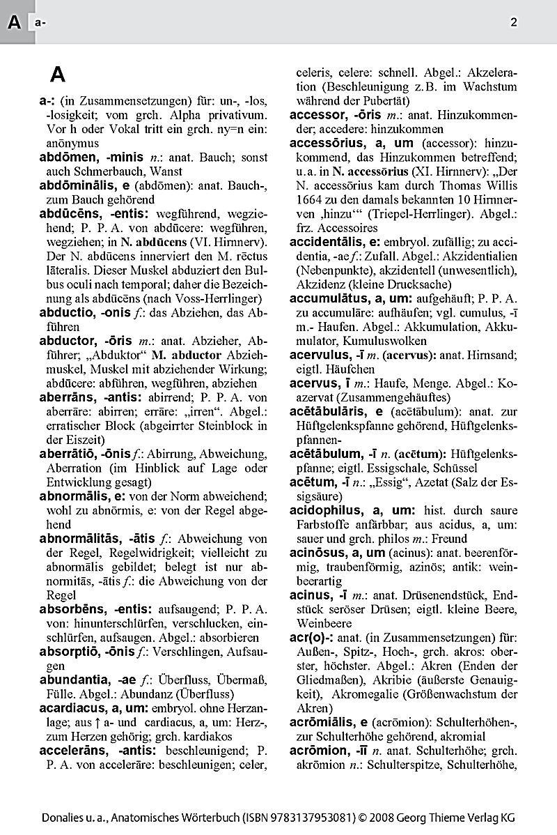 Wunderbar Wörterbuch Der Anatomie Galerie - Anatomie Ideen - finotti ...