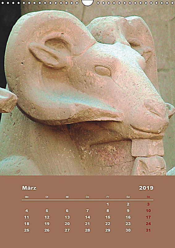 antikes gypten wandkalender 2019 din a3 hoch kalender. Black Bedroom Furniture Sets. Home Design Ideas