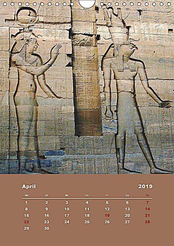 antikes gypten wandkalender 2019 din a4 hoch kalender. Black Bedroom Furniture Sets. Home Design Ideas