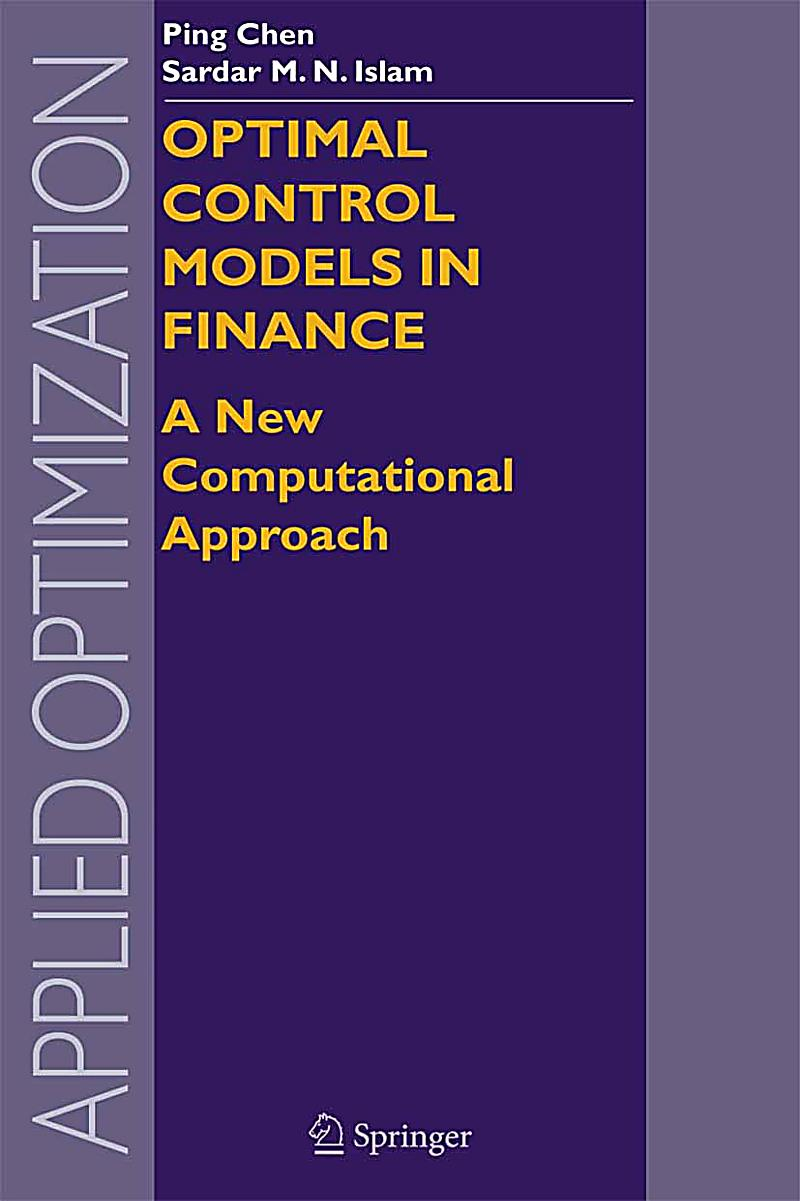 Applied Optimization Optimal Control Models In Finance border=
