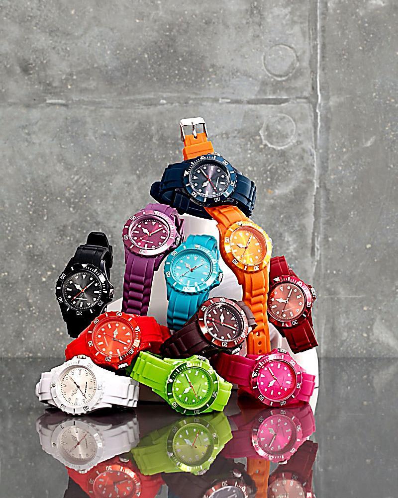 armbanduhr trendy watch farbe koralle bestellen. Black Bedroom Furniture Sets. Home Design Ideas