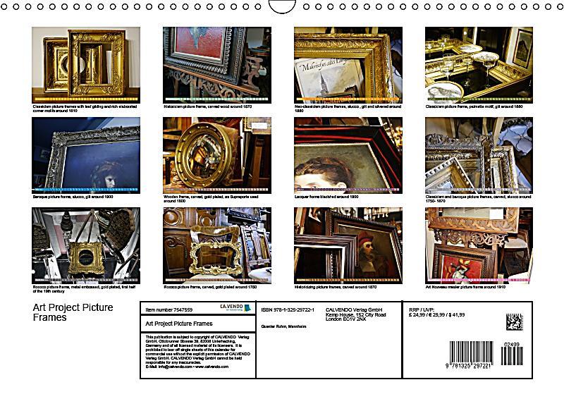 Calendar Art Project : Art project picture frames wall calendar din a